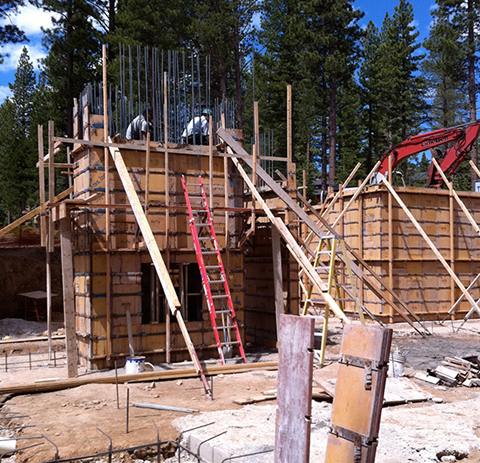 Concrete Forms by Greenwood Homes Lake Tahoe