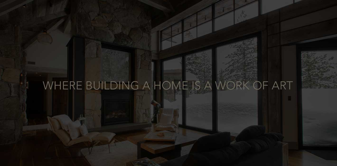 Where building a home is a work of art